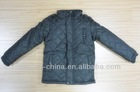 cheap stock boy's polyester peach skin winter jacket