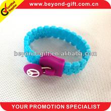 long-term supply rubber bracelet zipper