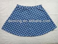ladywomen printed denim skirt jeans