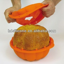 Silicone Pumpkin 3D Cake Moulds, Cute Design Halloween Cake Tray Molds Supplier, Kangde Cake Mould Manufactory.