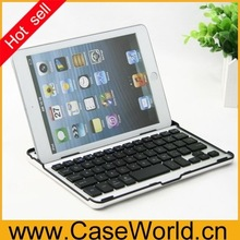For ipad mini aluminum keyboard for ipad mini 2 bluetooth keyboard