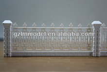 3D architectural mini railings model/ho,n,z,oo scale