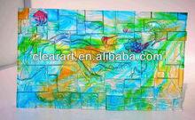 glass mosaic tile mural