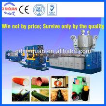 HDPE/PVC double wall corrugated pipe extruder machine,China pipe machine manufacturer