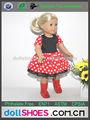 hermosa muñeca ropa pulgadas 18 vestido de la muñeca american girl trajes de muñeca