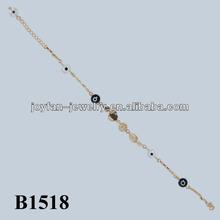 2015 moda bracciale malocchio 14k bracciale in oro malocchio