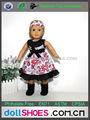 Blumenmuster 18-Zoll-Puppe abends kleid im amerikanischen mädchen puppe kleid