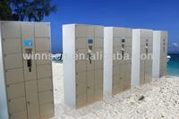 Beach Public Rental Electronic Smart Storage Doors Locker Cabinet