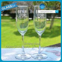 Customer Design Wedding Champagne Glass Flute Personalized Wedding champagne Glassware