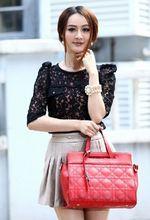 Fashional cute black White blue red ladies leather cross body bag