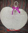 Large Buri Palm hand fans wedding favors