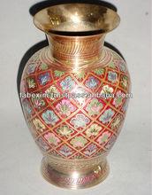 Colored Flower Pot , Flower Pot for Living Room Decoration , Brass Decorative Flower Pot