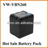 For Panasonic Camcorder battery VW-VBN260 VBN260