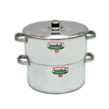 soha steam pot with stainless steel handles