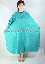 professional salon wear cape,TAFFETA fabric