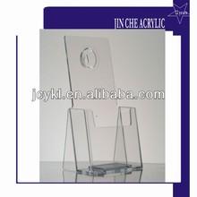 wall mounted acrylic tri-fold brochure holder