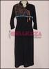 Black designer linen kurta for girls