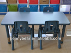 Kindergarten Furniture Children Height Adjustable Table And Chairs