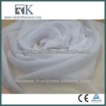 Chiffon 100 Polyester Sliver Foil Chiffon Drapery Fabric