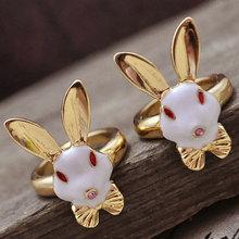 Cheap gold rabbit children rings for girls