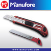 18mm knife with snap-off blade, plastic utility knife with auto lock system