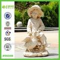 little boy stand de diseño de jardín de hadas de resina artesanías