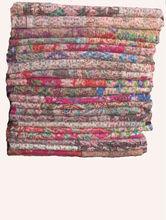 Jaipuri Printed Kantha Bed Speared, kantha Quilts, Printed handmade kantha hand embro