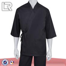 Men s black sushi bar chef coat uniforms