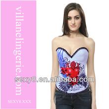 plain corset 100% cotton