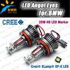 H8 20W led angel eyes For BMW 08-11 1-series E82 E87/09-11 3-series E90 sedan E91 E92 M3 E93 convertible Led marker headlights