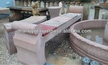 Pink Sandstone Bench