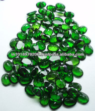 Natural Chrome Diopside Oval 7x9mm Cut Loose Stone