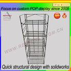 Metal mesh volleyball display shelf floor volleyball display stand