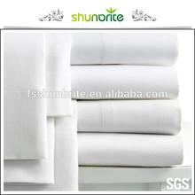 white flat sheet for 5 star hotel
