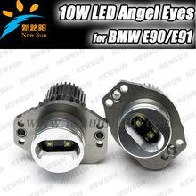 ONE PAIR E90,E91,63117161444 ANGEL EYE HALO RING LED BULBS,20W Led Headlight Angel Eye Halo Ring Light for Bmw E90 E91 fast ship