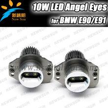 7000K Xenon White 10W C ree High Power LED Angel Eyes for BMW E90 E91 325i 330i Pre-LCI (Before Facelift) halo lights for cars