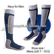 Nueva esquí y Snowboard profesional calcetines largos para hombre, Deportes de invierno / de la marina de guerra