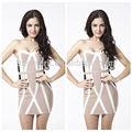 2014 vendaje nuevo vestido de noche vestido strapless patrón