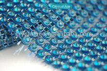 24 lines elastic blue crystal rhinestone trimming 4.7''X10 yards/roll