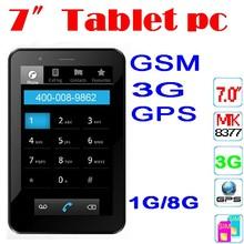 "7inch tablet pc 3g sim card slot MTK8377 3G GPS phone tablet pc 7"" HD Screen 1GB RAM 1.2GHz"
