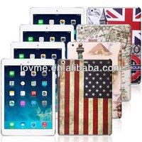 Retro UK flag Union Jack Flower print hard Cover Case For Apple iPad Air