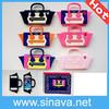 for iphone 5 5s Smiling Face Bag handbag design silicone case