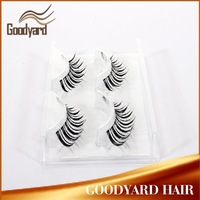 Easy Apply Make up Cheap Two Pairs Pack Hand made Nature Look Eyelashes