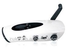 Emergency Dynamo led Flashlight /Dynamo torch light/Dynamo flashlight with mobile charger radio ZK-DC-8510