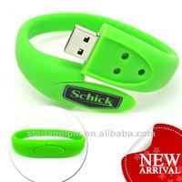 Chridren Gift Custom Silicon Wristband Flash Drive USB Bracelet