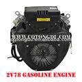 chinês chongqing feito 678cc horizental eixo 20hp pequeno motor a gasolina