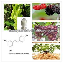 100% natural Polygonum cuspidatum Extract/ Resveratrol (CAS 501-36-0)/5%-99% HPLC/Off-white fine powder