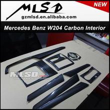 China supplier auto parts mercedes benz c class w204 carbon fiber interior make in china