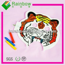 2014 inflatable DIY promotional plastic toy for children 3d paper toy with RoHS
