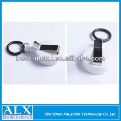 Custom-made 30mm white roller badge holder